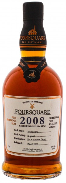 Foursquare Rum 2008 Cask Strength 0,7L 60%