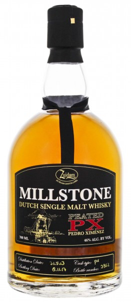 Zuidam Millstone Dutch Single Malt Whisky PX Cask 2013/2017 0,7L 46%