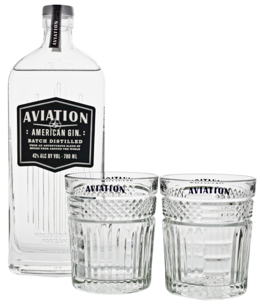 Aviation American Gin 0,7L 42% inkl. 2 Gläser