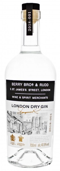 Berry Bros and Rudd London Dry Gin 0,7L 40,6%