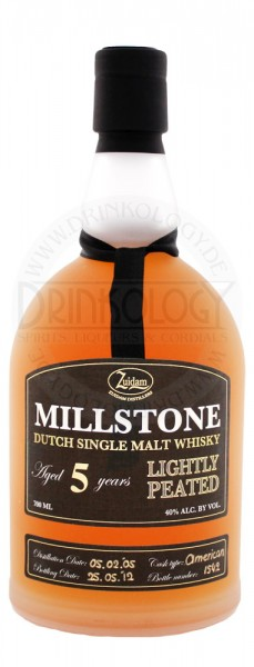 Zuidam Millstone Whisky 5 Jahre lightly peated