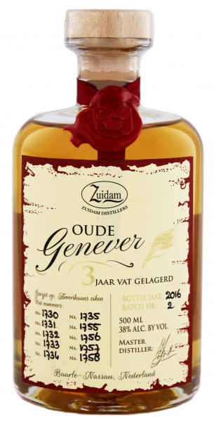 Zuidam  Oude Genever 3 Jahre, 0,5 L,