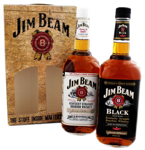 Jim Beam White & Black Duopack 2 x 1,0L, 41,5%
