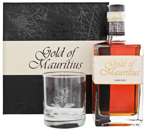 Gold of Mauritius Rum 0,7L 40% Geschenkset mit Glas