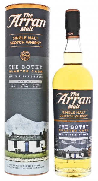 Arran Single Malt Scotch Whisky The Bothy Quarter Cask Batch 3 Cask Strength 0,7L 53,2%