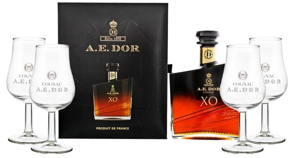 A.E. Dor Cognac XO 0,7L 40% inkl. 4 Tasting Gläser