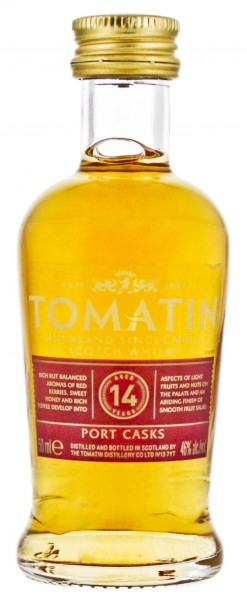 Tomatin Single Malt Whisky 14 Jahre Miniatur 0,05L 46%