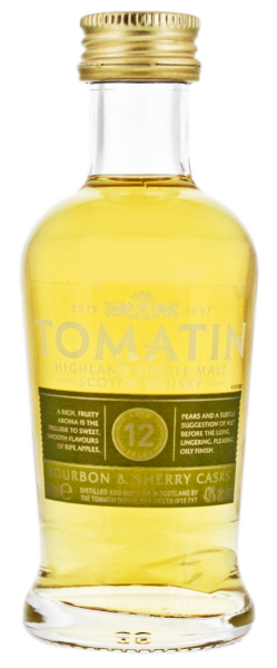 Tomatin Single Malt Whisky 12 Jahre 0,05L 43%