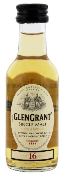 Glen Grant 16 Jahre Malt Whisky Miniatur 0,05L 43%