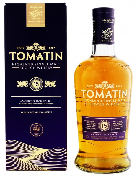 Tomatin Single Malt Whisky 15 Years Old 0,7L 46%