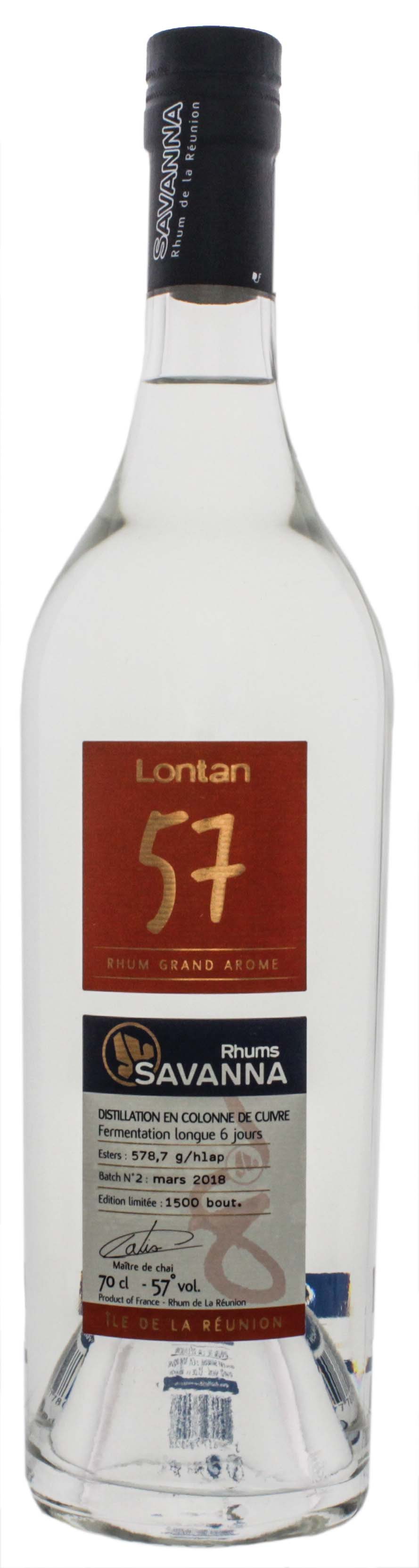 Savanna Lontan 57 Rum Blanc 0,7L 57%