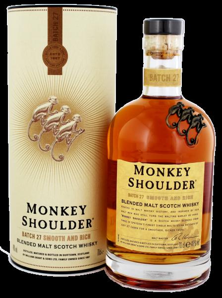 Monkey Shoulder Blended Malt Scotch Whisky , 0,7 L, 40%