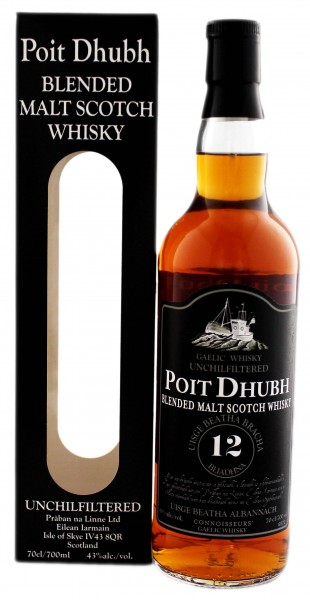 Poit Dhubh Malt Whisky 12 Years Old