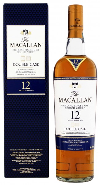 Macallan Single Malt Whisky 12 Jahre Double Cask 0,7L 40%