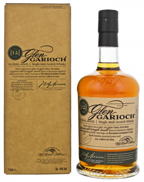Glen Garioch Single Malt Whisky 12 Years Old, 1 L, 48%