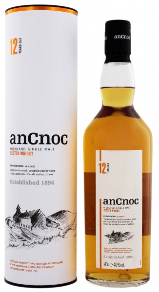 An Cnoc Single Malt Whosky 12YO, 0,7 L, 40%