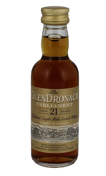 Glendronach Single Malt Whisky Parliament 21 Jahre Miniatur, 0,05 L, 48%