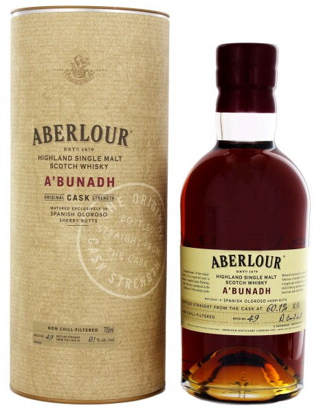 Aberlour A'Bunadh Single Malt Whisky Batch 49, 0,7L 60,1%