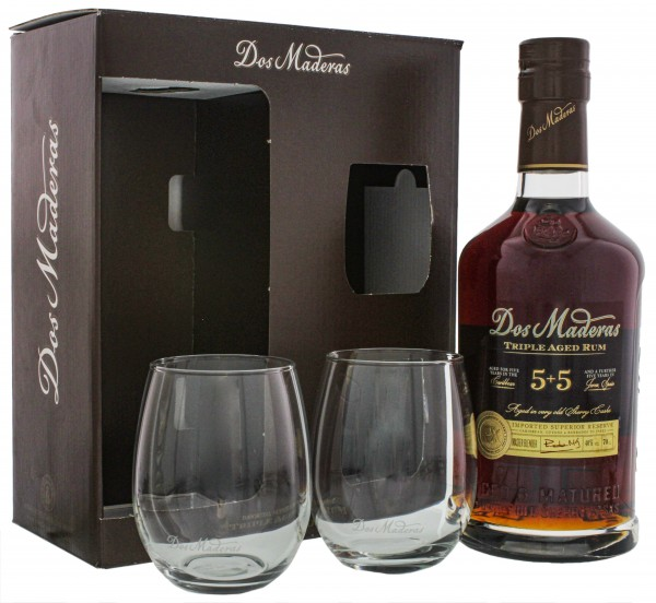 Dos Maderas Rum PX 5 + 5 Jahre 0,7L 40% inkl 2 Rumgläser