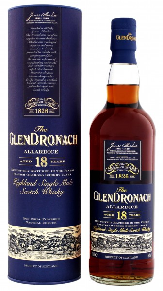 Glendronach Single Malt Whisky Allardice 18 Years Old 0,7L 46%
