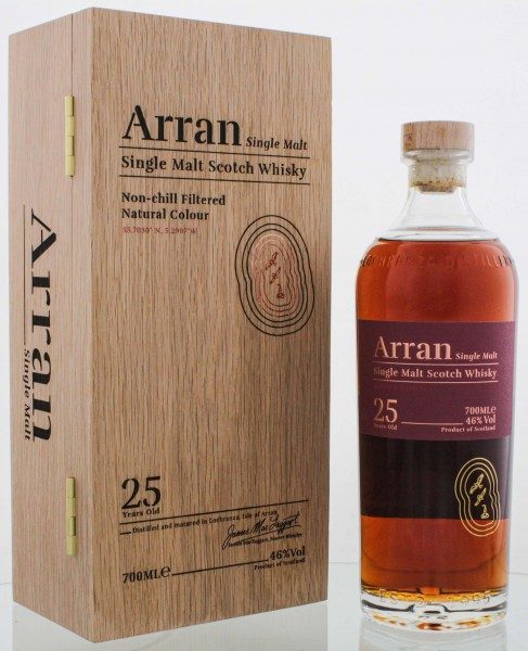 Arran Single Malt Whisky 25 Jahre 0,7L 46%