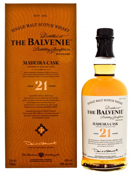 Balvenie Single Malt Whisky 21 Jahre Madeira Cask Finish 0,7L 40%