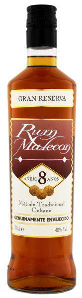 Malecon Rum Gran Reserva 8 Years Old, 0,7 L, 40%