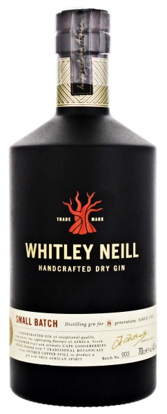 Whitley Neill Handcrafted Dry Gin, 0,7 L, 43%
