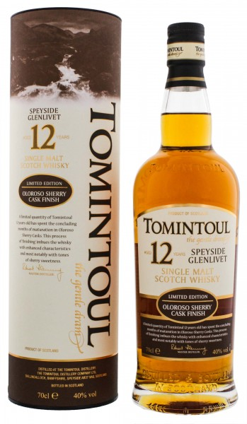 Tomintoul Single Malt Whisky Oloroso Sherry Cask 12 Years Old 0,7L 40%