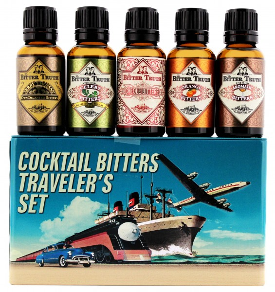 The Bitter Truth Bitters Travel Set, 5 x 0,02 L