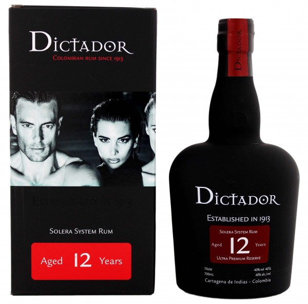 Dictador Solera Rum Ultra Premium Reserve 12 Years Old, 0,7 L, 40%