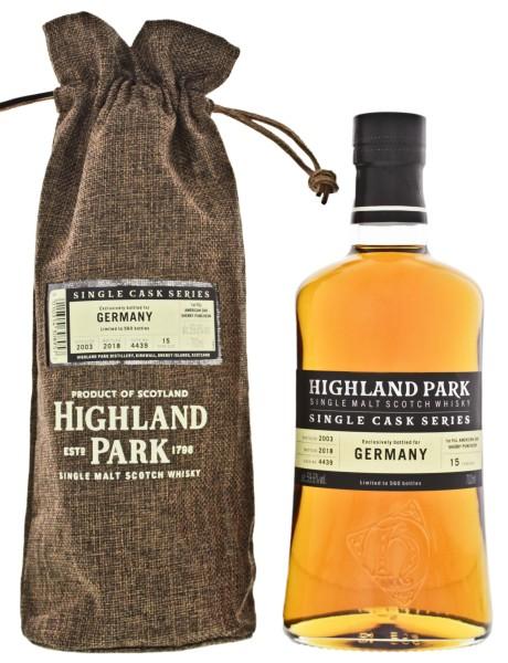 Highland Park Single Cask Series No. 4439 2003/2018 Single Malt Scotch Whisky 0,7L 59,6%