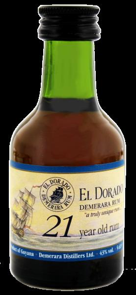 El Dorado Rum 21 Jahre, 0,05 L, 43%