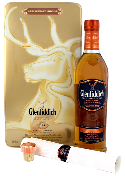 Glenfiddich Single Malt Scotch Whisky 125 Jahre Jubiläums Edition 0,7 L 43%