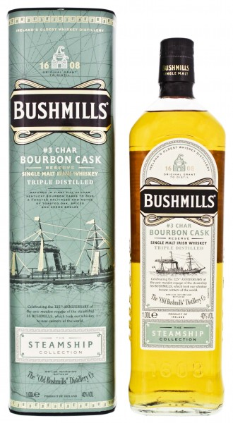 Bushmills Steamship Collection No. 3 Char Bourbon Cask Reserve Triple Distilled 1,0L 40%