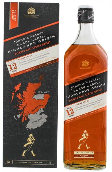 Johnnie Walker Black Label 12 Jahre Highlands Origin 1,0L 42%