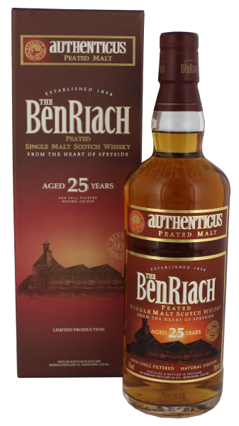 BenRiach Single Malt Whisky 25 Years Old Authenticus 0,7L 46%