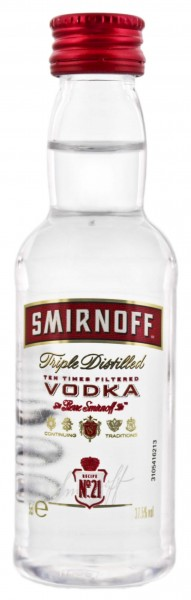 Smirnoff Red Label Miniatur 0,05L 37,5%