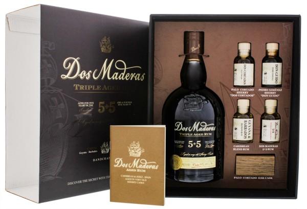 Dos Maderas Tasting Set Rum 5+5 Jahre inkl 4 Miniature