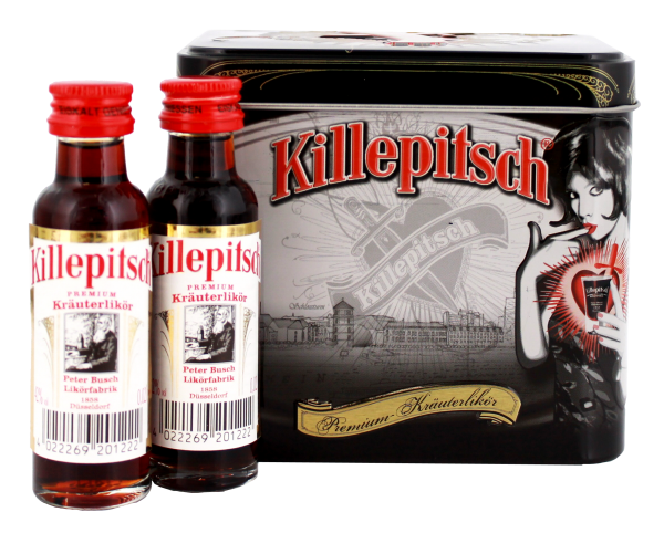 Killepitsch, 12 Miniaturen in einer Metalldose