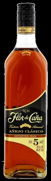 Flor de Cana Rum Anejo Classico 5, 0,7 L, 40%
