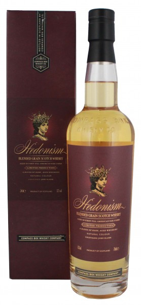 Compass Box Hedonism Blended Scotch Whisky, 0,7 L, 43%