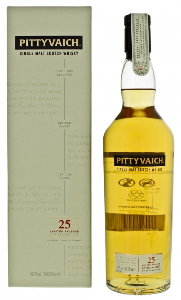 Pittyvaich Single Malt Whisky 1989 25 Jahre Special Release 0,7L 49,9%
