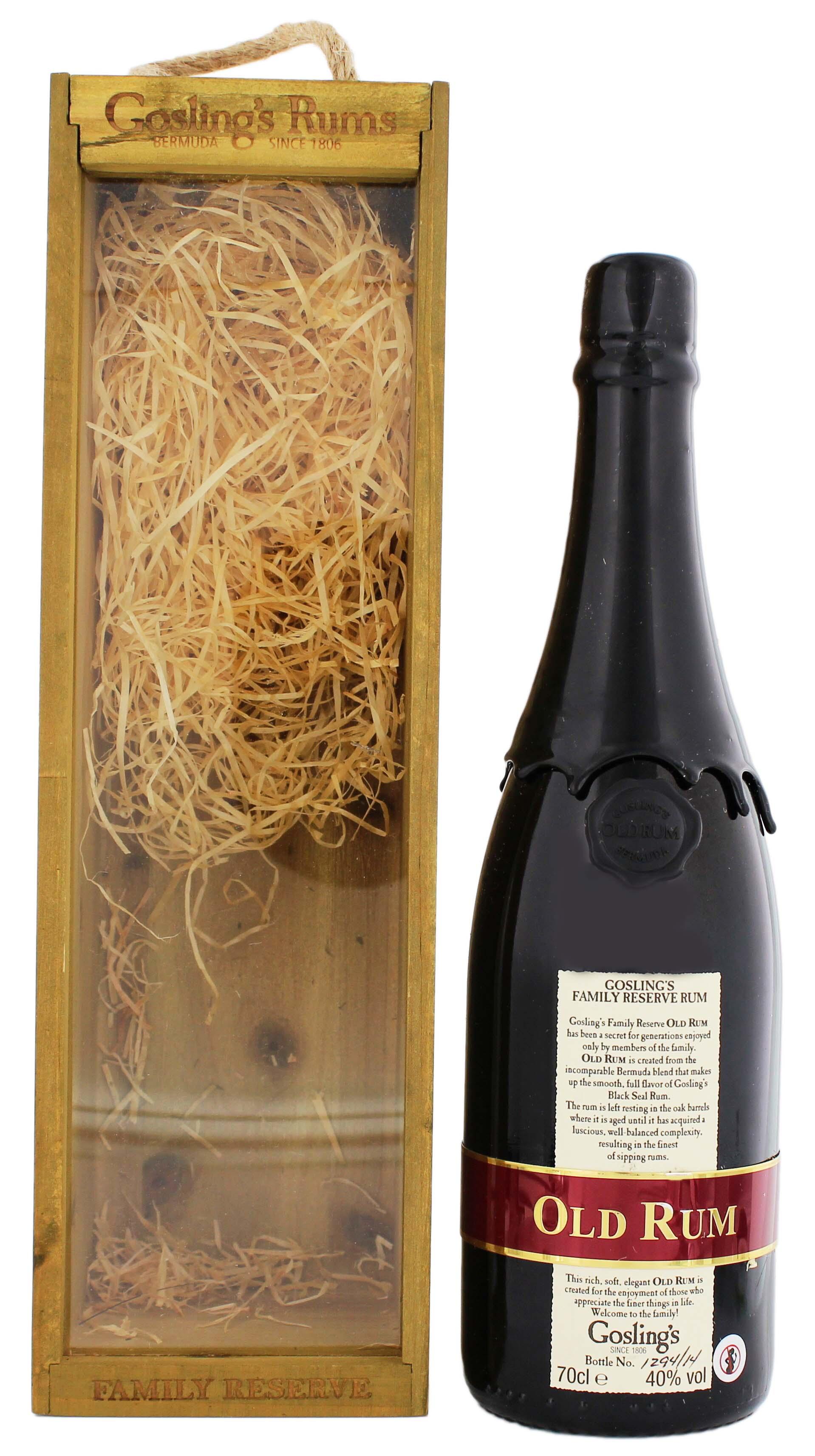 Gosling Family Reserve Bermuda Rum, 0,7L, 40%