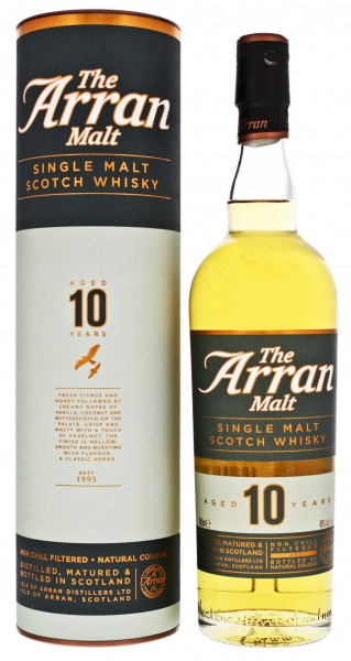 Arran Single Malt Whisky unchillfiltered 10 Jahre 0,7L 46%