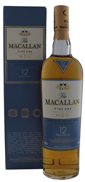 Macallan Single Malt Whisky Fine Oak 12 Jahre, 0,7 L, 40%