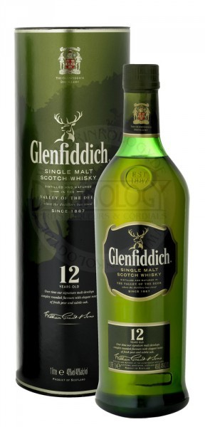 Glenfiddich Single Malt Whisky 12 Years Old, 1 L, 43%