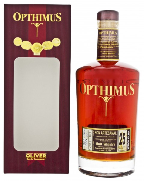 Opthimus Rum 25YO Malt WHisky Barrel Finish 0,7L 43%