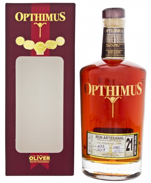 Opthimus Rum 21 Years Old 0,7L 38%