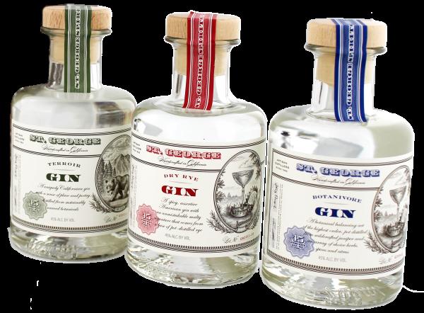 St. George Gin Set 3 x 0,2L 45%
